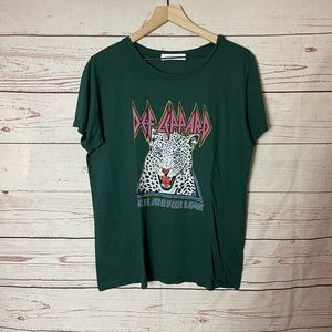 Def Leppard Too Late For Love Emerald Green Tee